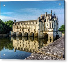 Reflecting Chateau Chenonceau In France Acrylic Print