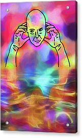 Acrylic Print featuring the digital art Reflecting Contemplation by John Haldane