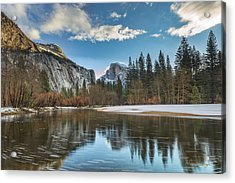 Reflecting On Half Dome Acrylic Print