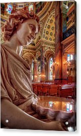Reflecting On That Which Is Holy Acrylic Print by Peter Herman