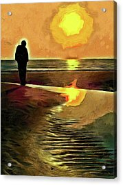 Reflecting On The Day Acrylic Print by Trish Tritz