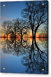 Acrylic Print featuring the photograph Reflecting On Tonight by Chris Berry