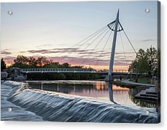 Acrylic Print featuring the photograph Reflecting On Wichita by Kyle Findley