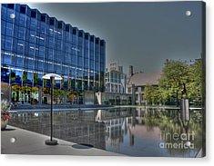 Reflecting Pond U Of C Law School Acrylic Print