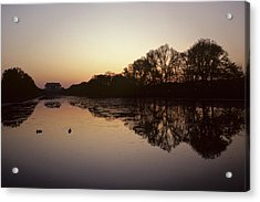 Reflecting Pool And Lincoln Memorial Acrylic Print by Kenneth Garrett