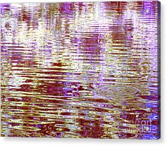 Reflecting Purple Water Acrylic Print