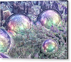 Reflecting Spheres In Space Acrylic Print