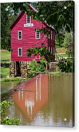 Reflecting Starr's Mill Acrylic Print