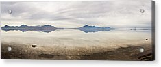 Reflection At Bonneville Salt Flats Acrylic Print by Mark Spomer