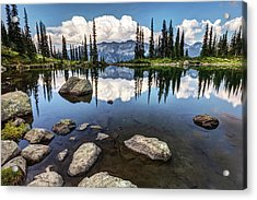 Acrylic Print featuring the photograph Reflection At Harmony Lake On Whistler Mountain by Pierre Leclerc Photography