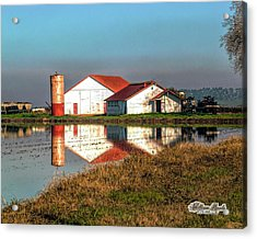 Acrylic Print featuring the photograph Reflection Barn  by William Havle