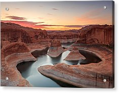Reflection Canyon Acrylic Print by Johnny Adolphson
