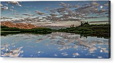 Acrylic Print featuring the photograph Reflection In A Mountain Pond by Don Schwartz