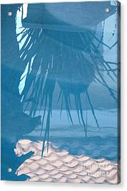 Reflection In Blue Acrylic Print by Donna McLarty