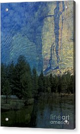 Acrylic Print featuring the photograph Reflection In The Merced River by Stan and Anne Foster