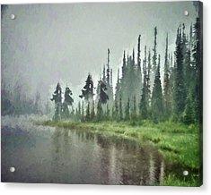 Reflection Lake, Mt Rainier Fine Art Print Acrylic Print