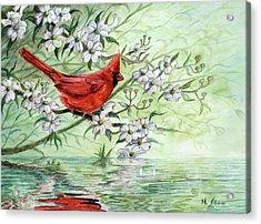 Reflection Acrylic Print by Michael Scherer