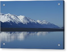 Reflection Mountains Acrylic Print by Robert Reasner