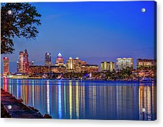 Reflection Of A City Acrylic Print by Marvin Spates