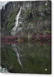 Reflection Of A Waterfall Acrylic Print