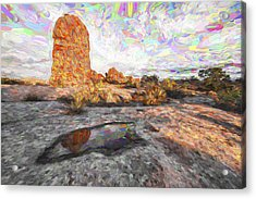 Reflection Of Arches IIi Acrylic Print by Jon Glaser