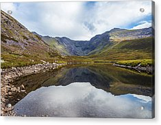Reflection Of Macgillycuddy's Reeks And Carrauntoohil In Lough E Acrylic Print by Semmick Photo