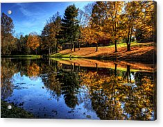 Reflection Of Northeast Ohio Fall Acrylic Print