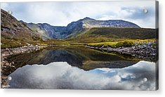 Reflection Of The Macgillycuddy's Reeks In Lough Eagher Acrylic Print by Semmick Photo