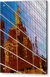 Reflection Of The Past - Tulsa Acrylic Print