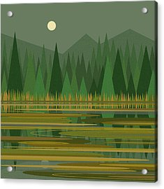 Reflection On A Mountain Pond Acrylic Print