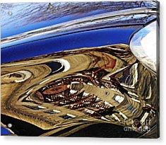 Reflection On A Parked Car 11 Acrylic Print by Sarah Loft