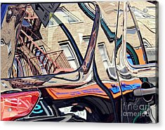 Acrylic Print featuring the photograph Reflection On A Parked Car 18 by Sarah Loft