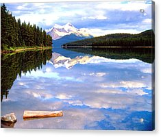 Reflection On Malign Lake Acrylic Print