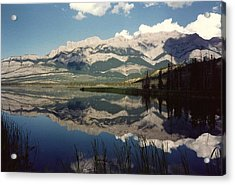 Reflection On Talbot Lake Acrylic Print by Shirley Sirois