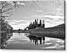 Reflection On The Lehigh Acrylic Print