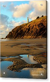 Reflection Puddle Acrylic Print by Mike Dawson