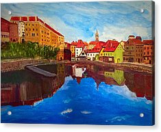 Czech Reflections Acrylic Print