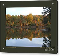 Reflections At Boughton Park Acrylic Print