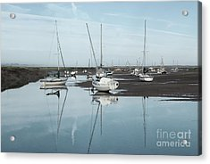 Reflections At Brancaster Staithe Norfolk Acrylic Print