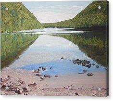 Reflections At Bubble Pond Acrylic Print by Harvey Rogosin