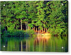 Reflections At Farrington Lake 6 Acrylic Print