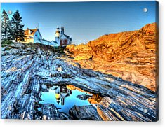 Reflections At Pemaquid Point Acrylic Print