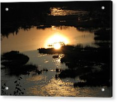 Reflections At Sunset Acrylic Print by Barbara Yearty
