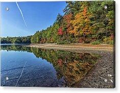Reflections At Walden Pond Acrylic Print