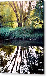Reflections At Wyeth Acrylic Print by Ellen Lerner ODonnell