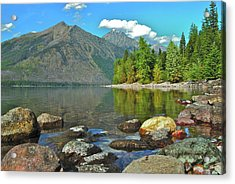 Reflections Glacier National Park  Acrylic Print by Michael Peychich