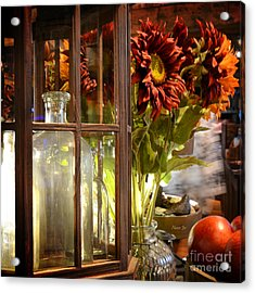 Reflections In A Glass Bottle Acrylic Print