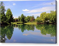 Reflections In A Pond Acrylic Print