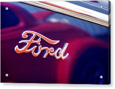 Reflections In An Old Ford Automobile Acrylic Print by Carol Leigh