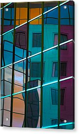 Reflections In Colour Acrylic Print by Elisabeth Van Eyken